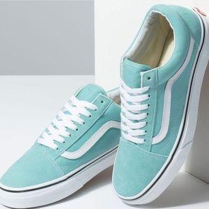 VANS Old Skool Aqua Haze & True White Shoes